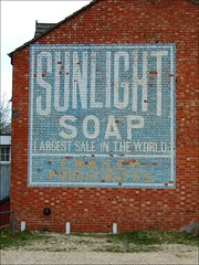 Ghost sign in Bletchley (David Cowie) Tags: miltonkeynes laundry bailey ghostsign bletchley publicbaths msh0407 sunlightsoap mkfbletchley msh04076 sundryrazorsstationery chemistsmedicalhealth ga00357