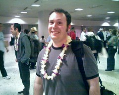 Scott and His Lei