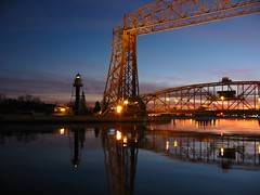 lift bridge and duluth sunset...