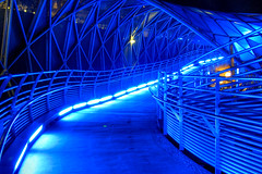 """Blue Hour"" (Thomas Reichart ) Tags: blue composite architecture way colorful nightshot great bluehour blau graz mur dri murinsel myway 3x 3exp flickrsbest islandinthemur"