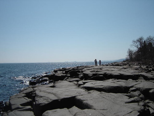 Looking back down the shoreline toward Duluth.
