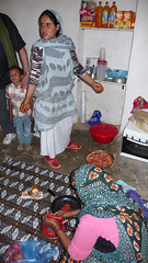 Pizzeria en la escuela de mujeres de Dajla