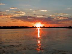 Sunset - Okavango River (hannes.steyn) Tags: africa sky sun nature water landscapes scenery sunsets rivers botswana 50club okavangoriver hannessteyn
