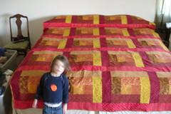 Wild man and quilt