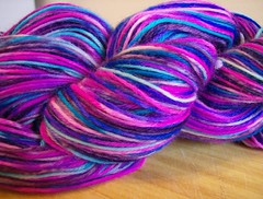 Hand dyed yarn by MJ