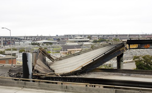 Freeway Collapse on Highway 580 Eastbound