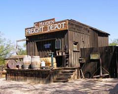 The Depot (ShacklefordPhotoArt) Tags: windows arizona building doors desert tucson oldbuilding oldtucson moviestudio