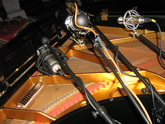 Rode K2 AEA R84 Peluso R14 on  baby Grand Piano Recording (soundweavers) Tags: piano grandpiano tubemic neumannu87 ribbonmic pianorecording aear84 pelusor14 rodek2