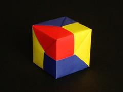 Tomoko Fuse Cube (origami-kunst) Tags: origami cube paperfolding wrfel tomokofuse papierfalten