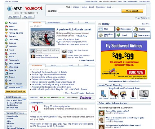 Yahoo's recent redesign