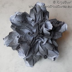 Epitaph for Kathedra  (K16044) (Origami Spirals) Tags: curler paper fold twirl origami burczyk folding art krysbur