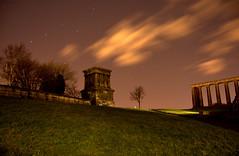 Calton Hill (Daniel.Jcksn) Tags: trees monument grass night clouds stars scotland edinburgh exposure hill slide cannon calton