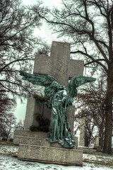 angel (Revo_1599) Tags: cemetery angel pittsburgh national hdr allegheny fdrtools