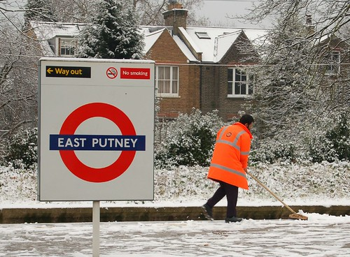 East Putney in snow by Anna Fraser