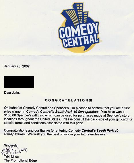 comedy central win