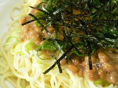 納豆の和風スパゲティ