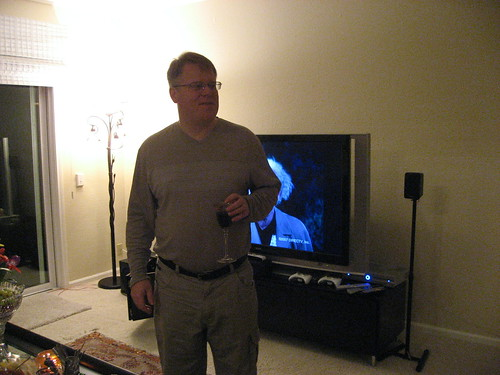 "Robert with his 60"" HDTV"
