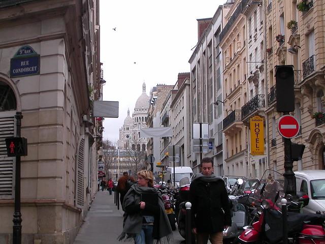 La rue Turgot à Paris.