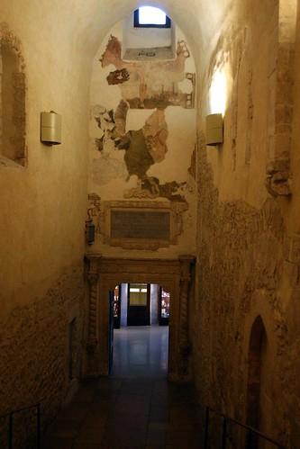 Stairs down to the Santuario di San Michele