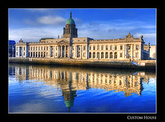 Custom House - HDR (Rodrigo da Cunha) Tags: ireland dublin house reflection river conversion capital liffey custom hdr abigfave