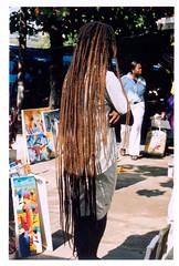Dreadlocks (Tiffany Burns) Tags: cruise film dreadlocks 35mm long market jamaica caribbean polarizer ochorios