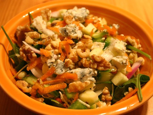 Apple Walnut Blue Cheese Salad