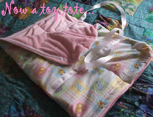 baby mat toy tote