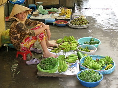 Market / Vietnam, Mekong River (flydime) Tags: trip travel vacation portrait people frutas colors river asia action delta vietnam mercado exotic mekong floatingmarket vegetales