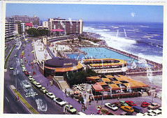 Sea Point Pavilion circa 1977 (mallix) Tags: vintage southafrica seaside postcard memories capetown swimmingpool faded memory pavilion 1970 worldcup sent 1970s oldskool seapoint 2010 relic 1960 heyday soccerworldcup worldcup2010 holidayold fifa2010