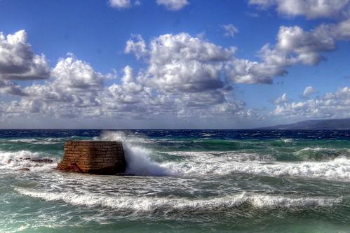 Olas en el Atlántico, Isla de Tarifa