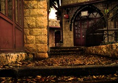Secret Door?? (Fadi Asmar ^AKA^ Piax) Tags: wood old lebanon fall tourism leaves stone stairs dead doors market security exploitation shops souq zouk cafes liban resturants jounieh piax zoukmikael travelerphotos goldenphotographer heritageasaproduct usingheritage