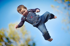 airborne (david_CD) Tags: boy portrait sky sun david kids children happy fly kid jump toddler child outdoor air sunny kinder throw losangles childish inkyblack lightonkids tc84owp