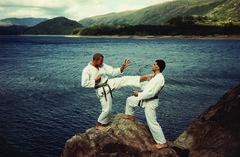 karate front kick