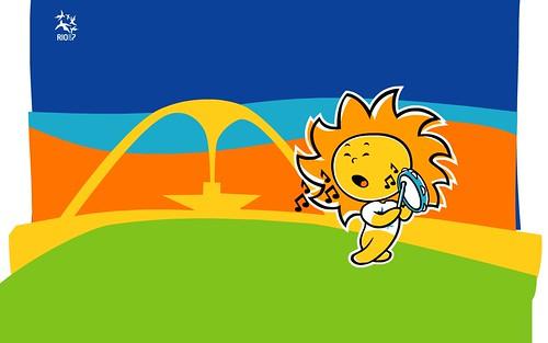 Mascote Cauê do Pan 2007 do Rio de Janeiro Sambanado