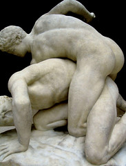 Wrestlers (R. O. Flinn) Tags: sculpture