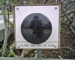 Talking sign for the blind