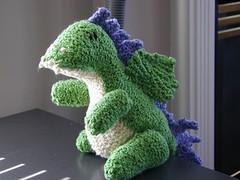 dragon (Frith) Tags: dragon handknit knitty norberta