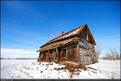 The Homestead (A guy with A camera) Tags: wood blue winter sky house snow canada abandoned home rural landscape wooden nikon searchthebest farm country rustic sigma alberta 1020 ruraldecay abphotobloggers d80 anawesomeshot impressedbeauty wowiekazowie