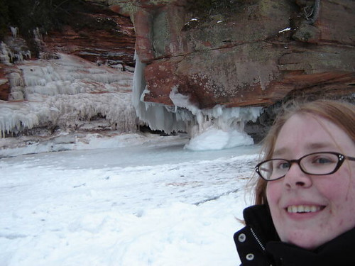 Mary by some icy caves.