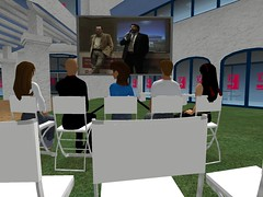 Gabetti Press Conference in Second Life