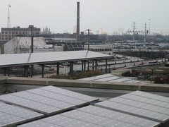Solar panels at CCGT (kristen60647) Tags: sedum greenroof chicagocenterforgreentechnology