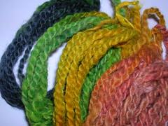 Rainbow dyed handspun