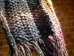 Silk garden scarf
