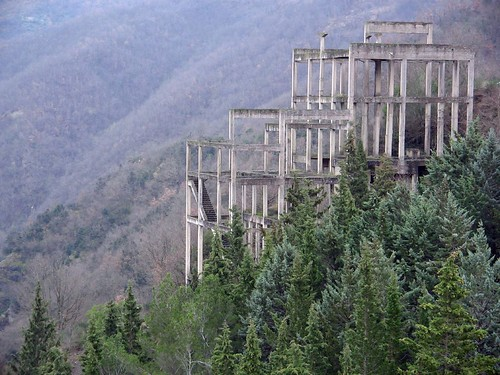 Unfinished construction in the nature