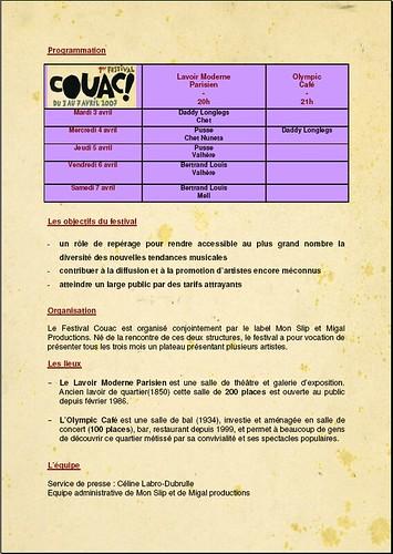 MON SLIP ET MIGALE PROD présentent le 1er festival COUAC 420366583_d4fab0913e