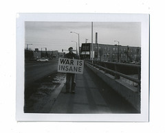 You can say that again. (Martha Duerr) Tags: portrait blackandwhite minnesota polaroid war protest stpaul minneapolis antiwar 667 340 packfilm firstamendment hwy280 polaroid340