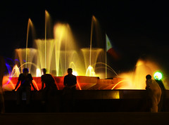 fountain of colors (jobarracuda) Tags: fountain colors silhouette lumix bravo nightshot philippineflag fz50 panasoniclumix manilanight aplusphoto jobarracuda fotocompetition fotocompetitionbronze fotocompetitionsilver