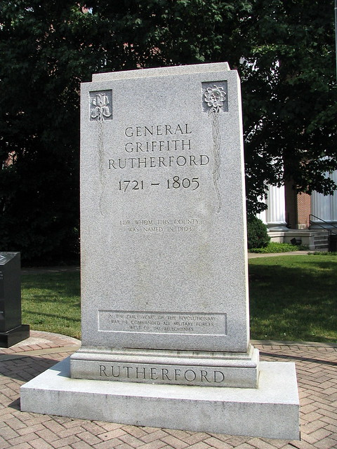 General Griffith Rutherford marker