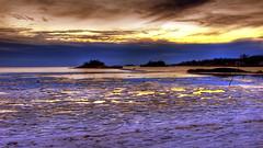 Frozen Bay #4 (slack12) Tags: sunset island long connecticut shoreline sound hdr guilford