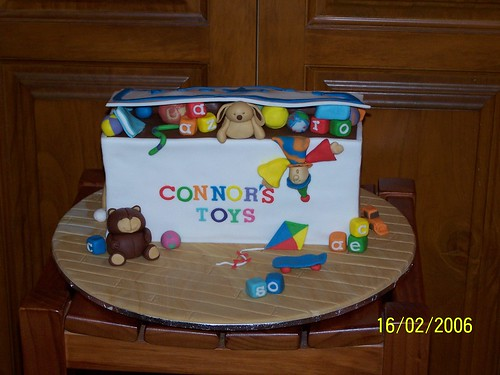 christening cakes for boys. Toy box christening cake